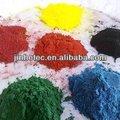 química de óxido de hierro con todo tipo de color