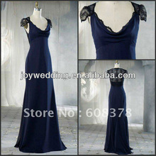 JH5190 sexy cap-sleeve lace bridesmaid dresses