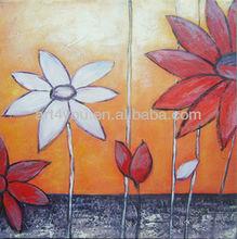 carton fair flower canvas painting art (24550)