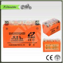 YTX9-BS(12V 9AH) GEL Maintenance Free High Power motorcycle battery
