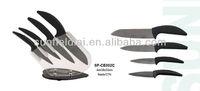 2012hot-sell sharp black handle 4pc ceramic knife