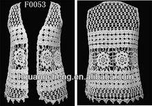 Cheap cotton crochet lace vest,latest womens crochet vest