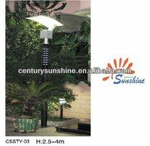 Outdoor garden solar light on spin
