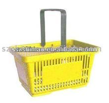 Single handle pink plastic laundry basket
