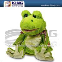 Dancing plush frog toy