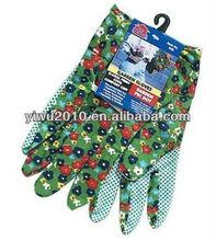 Garden Gloves Floral Print Cool Comfort Cuff Garden Pvc Dot