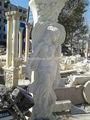 estátuas de mármore branco