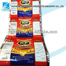 GOOD ! Antistatic plastic food packaging film on roll for peanut