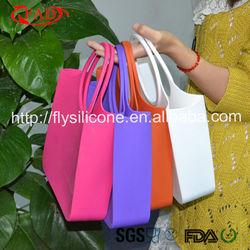 Eco-Friendly Multi-Purpose Elegant Silicone Rubber Handbag Suitable For Women Shopping