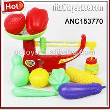 Plastic fruit scale set Educational balance toys