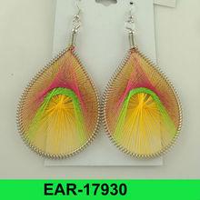 2012 hot selling wholesale cheap multi color thread earrings