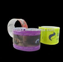 Idear promotional gifts reflective slap bracelet