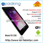 All winner A10 android 4.0 cheapest pc tablet 10 inch