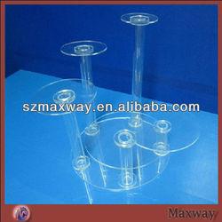 Modern crystal 5 tiers round acrylic single cupcake stand