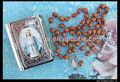 cattolica rosario marrone perlinedilegno medaglia miracolosa di nostra signora delle grazie scatola di metallo