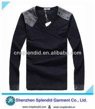 unique high navy blue body fit v neck long sleeve bulk sale t-shirt for men