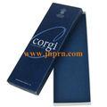 Impressão do logotipo presente azul caixa de papelão para o laço