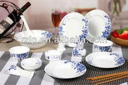 2012 Hot Sell jingdezhen 28 PCS Ceramic dinnerware set Porcelain Tableware Blue and white porcelain