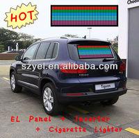 Pop Music Actived EL Car Sticker/ EL Window Decal for Car Decoration