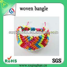 Colorful Polyester Popular Woven Wristband/Bracelets/Bangle