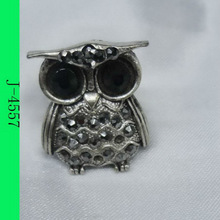 2012 latest fashion cheap alloy animal owl ring with stone wholesale
