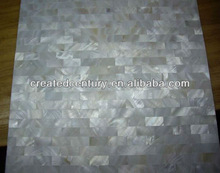 Natural pure white pearl oyster shell mosaic ceramic tile