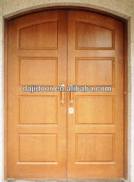 Estilo r stico arco exterior puerta doble de madera - Arcos de madera para puertas ...
