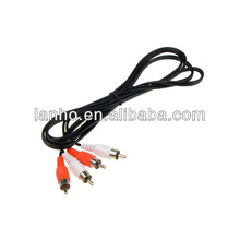 Gold Plated 1.5M Male to Male 2 RCA Composite AV Audio Video Cable Plug For HDTV