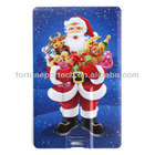 promotional santa clause card! mass cheap 2gb usb flash drive