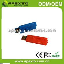 China Shenzhen fashion mini Slide usb flash drive plastic (UP-613)