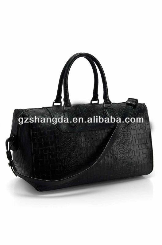 2012 new styles crocodie genuine leather Men travel bag, duffel bags