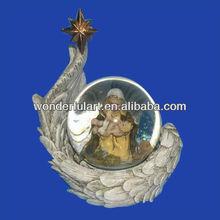 wholesale polyresin snow globe nativity ornaments