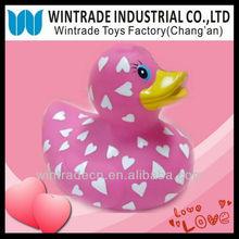 Valentine Heart Printed Pink Duck