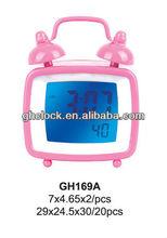 Mini alarm clock with LCD & digital alarm clock