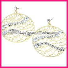 2013 spring style round hoop alloy earrings
