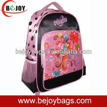 2012 satin high quality girls school bag backpack