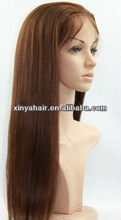 Latest style virgin indian silk top lace wig