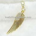 encanto do ouro do anjo da asa com strass