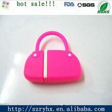 unique for ladies silicone bag usb flash drive