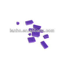 New Anti Dust Purple Soft Silicone Dustproof Plug Full Set For Apple Mac Pro Air