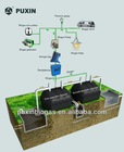Portable digester for biogas production and waste treatment