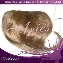 Girls popular brown color clip-on fringe/bangs
