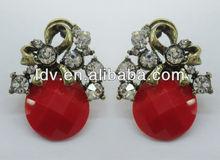 2012 fashion cute earrings handmade earring ideas Double kick butterfly earring LDE2064