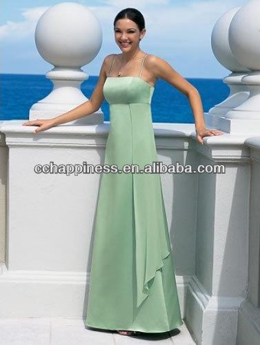 Gris cazador de damas de honor vestidos de jade de dama de honor vestidos