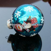 Outdoor decorative glass hollow christmas balls