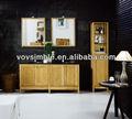 Montado no piso de carvalho banheiro mobiliário moderno com duplo armários/espelho