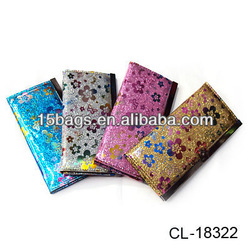2012 Fashion pu leather flat women wallet
