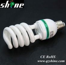 T2 7mm half spiral esl compact fluorescent lamps lighting bulb CE Rohs energy saving lamp