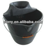 RECYCLE MATERIAL METAL HANDLE PLASTIC BUCKET W/MOP HOLDER
