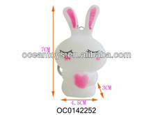 2013 promotional item rabbit key ring with bb sounds
